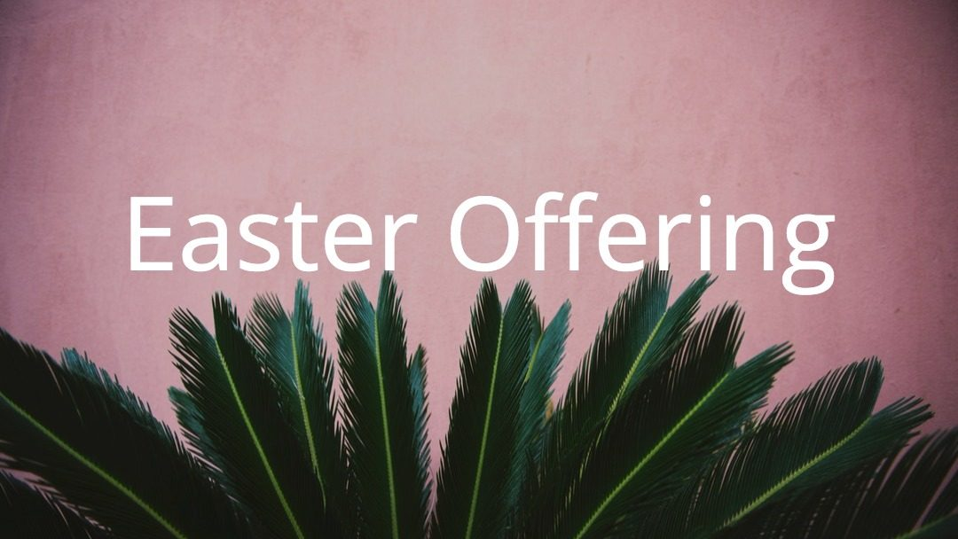 Easter Offering Campaign Postponed