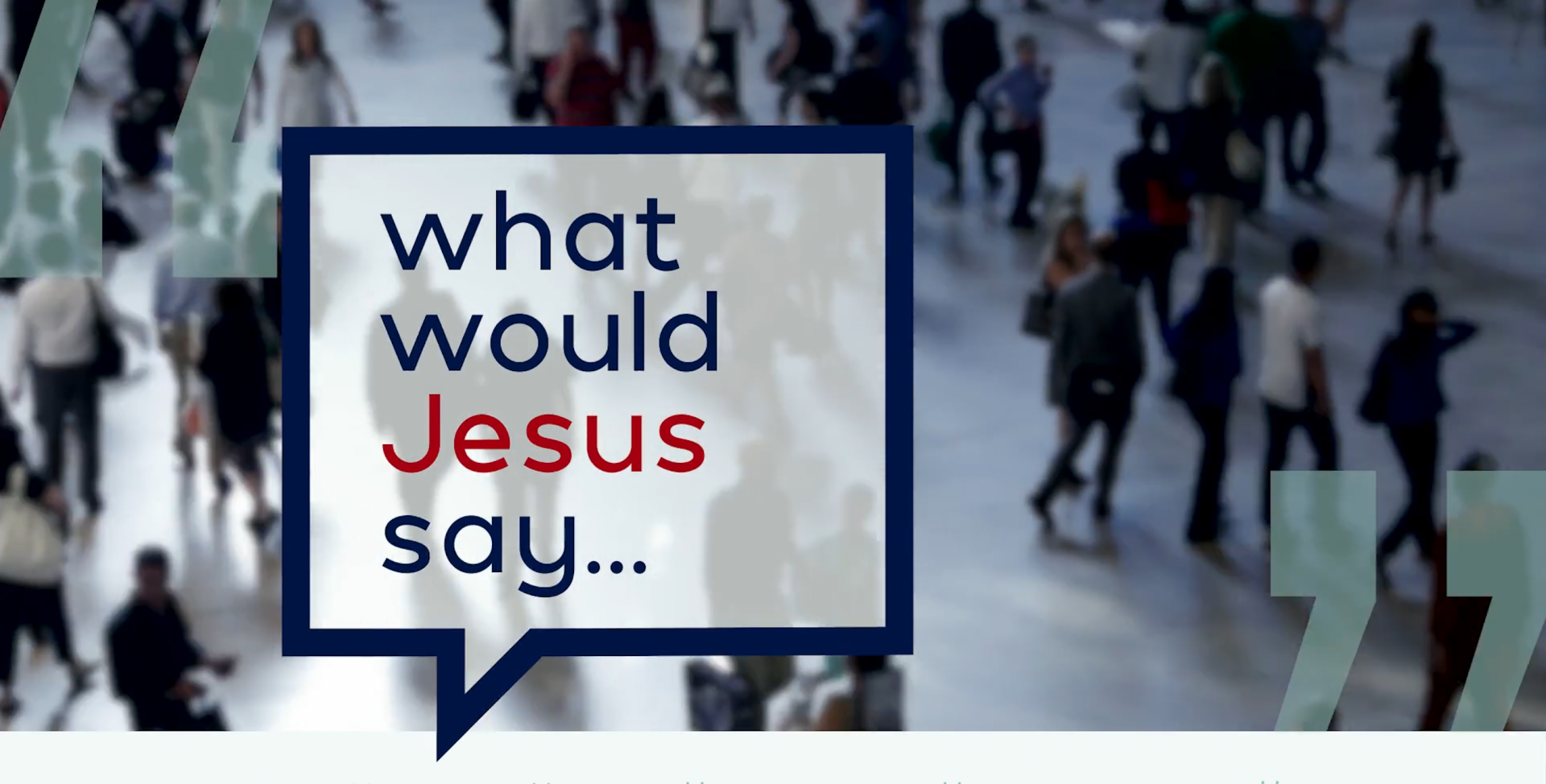 What Would Jesus Say about Creation?