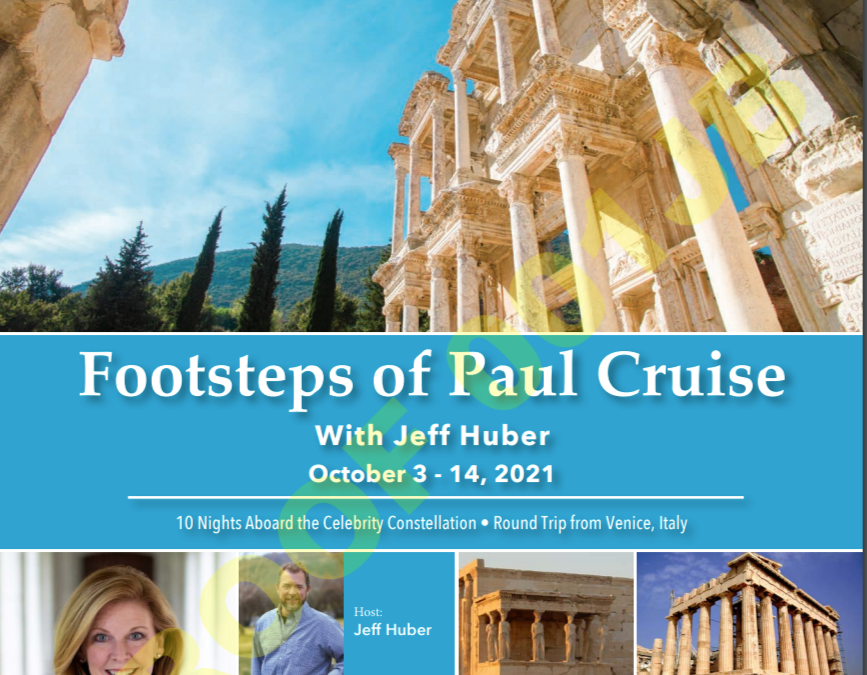 Join Pastor Jeff's next trip following the Apostle Paul!