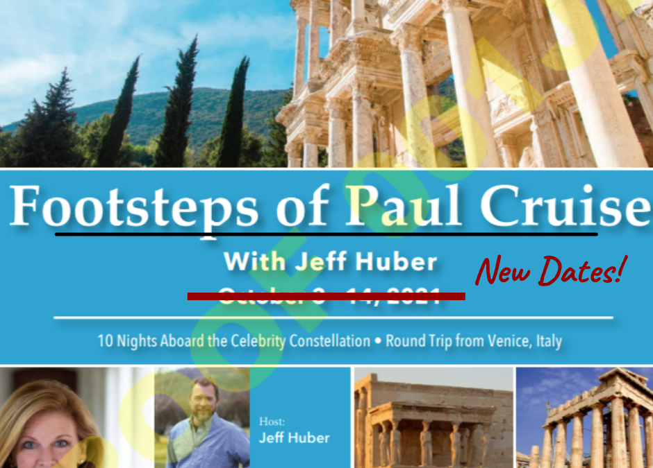 Join Pastor Jeff's next trip:  Journeys of Paul in Greece and Turkey